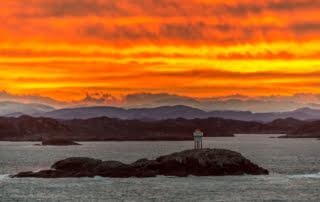 Foto catagoriëen, Landen, Mongstad, Noorwegen, Norway, Seascape, Shutterstock, Stock Photography, Stock fotografie, Sunrise, Zonsopkomst, zeegezicht