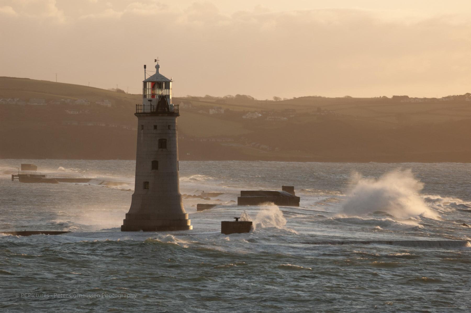 Breakwater, Plymouth, lighthouse, vuurtoren, westzijde